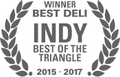 Best deli award from Indy Magazine